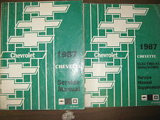 1987 CHEVROLET CHEVETTE GM FACTORY REPAIR SERVICE MANUAL & SERVICE SUPPLEMENT