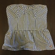 Hollister Women's Size large corset bustier tube top strapless Checkered Sexy