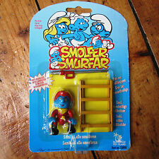 Smurfs Vintage 90s Toy Island Fireman Figure Sealed on Card Rare Scandinavian