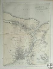 c1860 Crimean War Print Map Constantinople Thracian Bosphorus inset Princes Isle