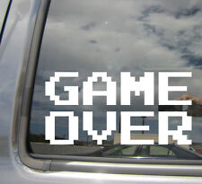 Game Over - Classic Arcade Retro 8 Bit - Car Vinyl Die-Cut Decal Sticker 10006