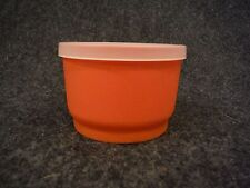 Tupperware 1229 Snack Cup Orange with Sheer Seal 297
