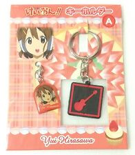 K-ON rubber keychain key ring holder fastener strap set movic Hirasawa Yui anime