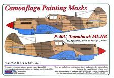 AML Models 1/32 CURTISS P-40C TOMAHAWK Mk.IIB Camouflage Paint Mask Set
