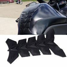 Motorbike Tank Protector Motorcycle Scratch Pad Black Carbon Fibre Type Sticker