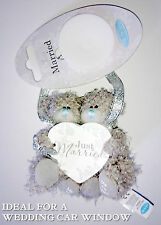 Tatty teddy just married voiture fenêtre meunier memento 2 hanging ours coeur mariage