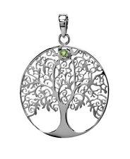Anhänger Lebensbaum Silber mit einen kleinen Peridot mit Symbolik für Halskette