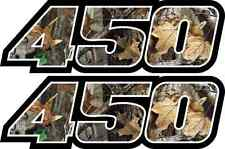 Camo 450 Decals Stickers Graphics 450 Grizzly Wolverine Kodiak Quad ATV Custom
