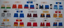 LEGO CUSTOM MINIFIG GLOSSY DECAL SET DC COMICS SET 1 15 FIGURE LOT