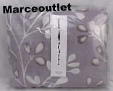 Oake Leaflet 100% Pima Cotton FULL / QUEEN Duvet Cover & STD Shams Plum Stone