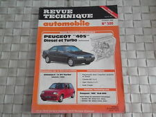 REVUE TECHNIQUE PEUGEOT 405 DIESEL ET TURBO - BERLINE ET BREAK
