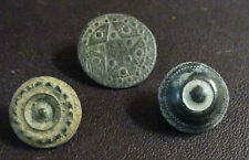 3 SMALL ANTIQUE BUTTON CENTURY XVIII OLD BOUTON BUTTON BOTON SEE MY SHOP CCB29