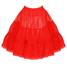 t12 Hearts & Roses H&R Rockabilly Retro Red Petticoat Pettiskirt 50's Size 16