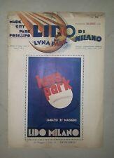 RIVISTA LUNA PARK IL LIDO DI MILANO N. 3 1932 ARACA FUTURISMO POSILLIPO