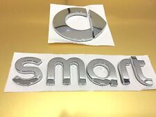 ABS Smart Letter REAR BADGE Chrome SMART Badge Emblem Sticker Car Trunk Sticker
