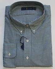 New $110 Polo Ralph Lauren Long Sleeve Green Checked Cotton Twill Shirt / Big 3X