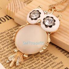 New Lady Women Vintage Opal Owl Pendant Necklace best XMAS Party Birthday Gift S