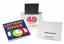 10 x lottery bonus ball fundraising cards NEW 1-59 with Serial CODES UK Stock