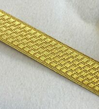 "Gold Mylar B&S Lace Bias, 1"" 2.5cm, Army, Braid, Military, Uniform, Braid, Rank"