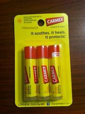 3 Pack Carmex Original Moisturizing Lip Balm For Dry Chapped Lips .15 Oz Sticks