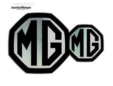 MG ZR LE500 MK2 Front & Rear Insert Badge Logo Set 59mm/95mm Black/Chrome