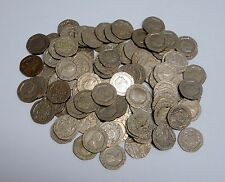 Lot of 100 Circulated, Assorted 20 Pence British Coins