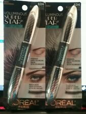 (2) TWO Waterproof Loreal Voluminous Super Star Mascara, 624 Blackest Black