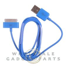 Apple iPhone 4/i4S Data Cable Blue Sync USB Charger Cord Transfer Connector Plug