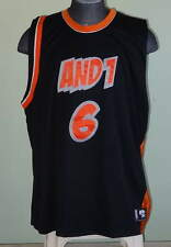 AND 1 Authentic 2006 Mixtape Tour Basketball Jersey Black #6 3XL Stitched