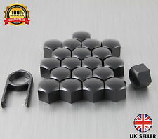 20 Car Bolts Alloy Wheel Nuts Covers 17mm Black For Abarth 500 595