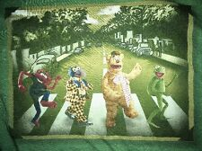 The Muppets as The Beatles on Abbey Road green T-Shirt Size 2XL XXL Big & Tall