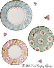 China Look Paper Plates Shabby Chic Vintage Wedding AfternoonTea/ Hen Party