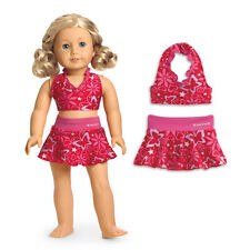 "American Girl MY AG BERRY SKIRTINI In Bag for 18"" Dolls Swimsuit Bikini Clothes"
