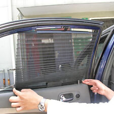 Black 2 Pc Auto Retractable Side Window Curtain Sunshade Tata Nano