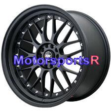 XXR 521 18 Flat Black Rims Wheels Staggered 5x114.3 Stance 93 98 Toyota Supra TT