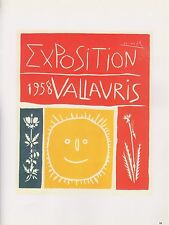 "1989 VINTAGE ""EXPOSITION VALLAURIS 1958"" PICASSO COLOR offset Lithograph"