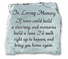 In Loving Memory Plaque If Tears Could Build A Stairwas Slate Memorial Pewter