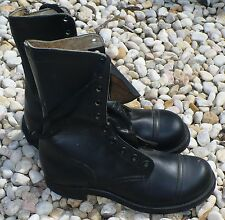 VINTAGE POST VIETNAM BLACK TUFTEX SLIPKNOT MILITARY BOOTS NEVER WORN