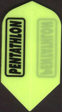 Neon Yellow PENTATHLON Slim Dart Flights: 3 per set