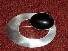 Vintage N. BEGAY Navajo Jewelry Sterling Silver and Onyx Pin/Brooch