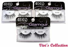 3 Pairs Of Ardell 113 Black Eyelashes 100% Human Hair Eye Lashes *3 Packs*