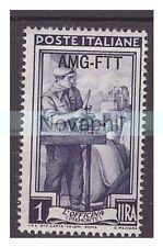 TRIESTE A - 1950  - ITALIA AL LAVORO    LIRE  1  NUOVO **