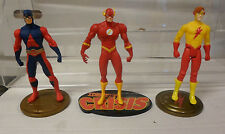 DC Direct Action Figure Lot of 3 Loose The Atom Flash Kid Flash