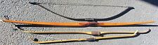 VINTAGE WOOD & LAMINATE YORK ARCHERY LONG BOW + 3 VINTAGE FIBERGLASS BOWS