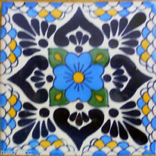 90 MEXICAN CERAMIC TILES WALL OR FLOOR USE CLAY TALAVERA MEXICO POTTERY #C116