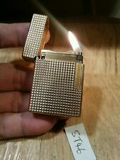 St dupont lighter fairs 46 ~ Ligne 1 small hobnail gold plated, serviced & grte