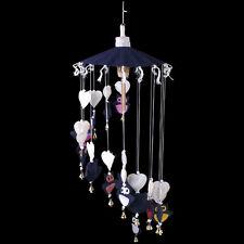 Beautiful Long Handmade Thai Saa~Mobile~Hanging~ Dark Blue Owls~uk seller