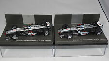 West McLaren mp4/15 & mp4/16 Mika Hakkinen-DUE AUTO Set-Nuovissimo