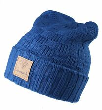 Diamond Supply Co. Petrol Blue 100% Acrylic Knit Fold Cuff Beanie Winter Hat NWT