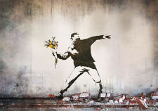 Poster for new Banksy Street Art Canvas Silk Fabric Cloth 20x13 Decor 03